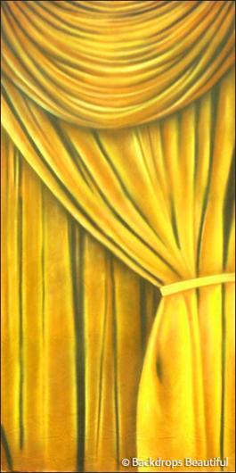 Backdrops: Drapes Gold Leg Right