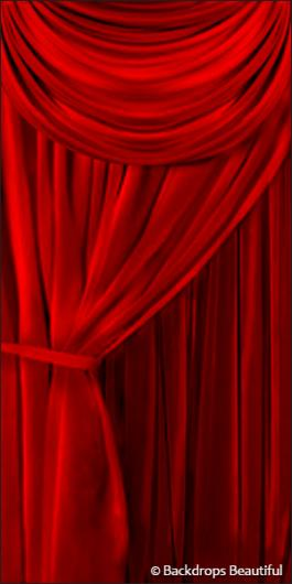 Backdrops: Drapes Red Leg 1