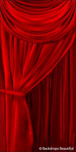 Backdrops: Drapes Red Leg 1