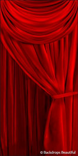 Backdrops: Drapes Red Leg 2