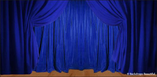Backdrops: Drapes 1B Blue