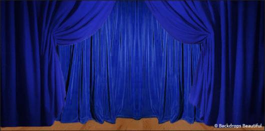 Backdrops: Drapes 1B Blue