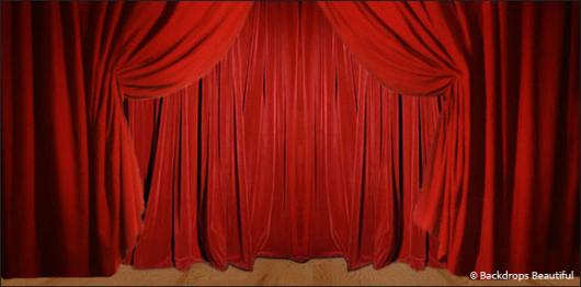 Backdrops: Drapes Red 2A