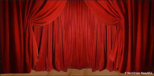 Backdrops: Drapes Red 2A
