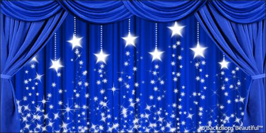 Backdrops: Drapes Blue 3 Stars