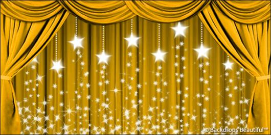 Backdrops: Drapes Gold 3 Stars