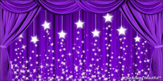 Backdrops: Drapes Purple 3 Stars