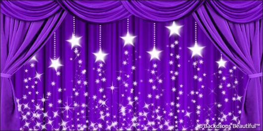 Backdrops: Drapes Purple 3 Stars