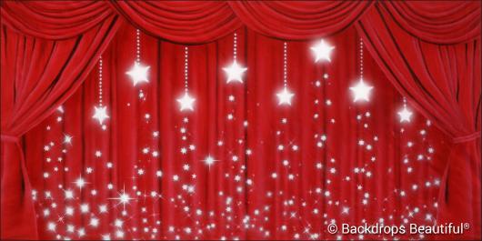 Backdrops: Drapes Red 4 Stars