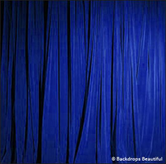 Backdrops: Drapes Blue Half 1