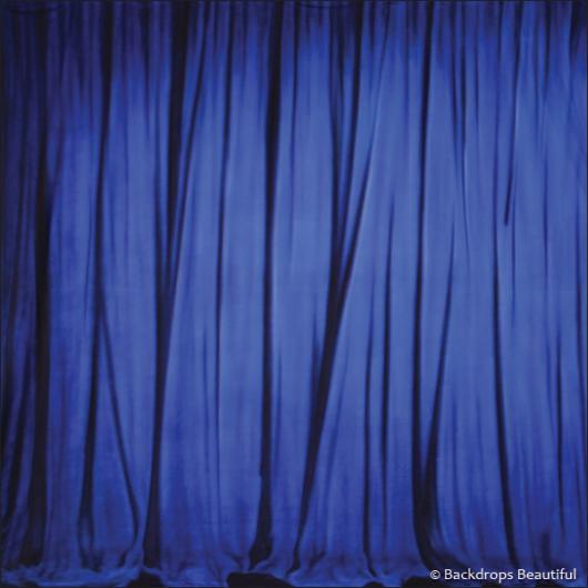 Backdrops: Drapes Blue Half 1