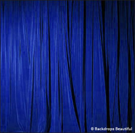 Backdrops: Drapes Blue Half 2