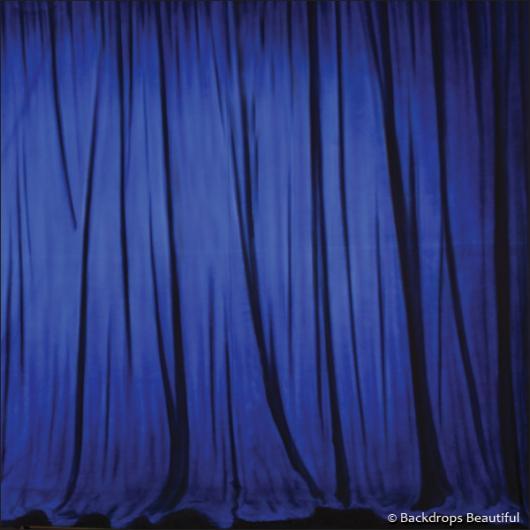 Backdrops: Drapes Blue Half 2