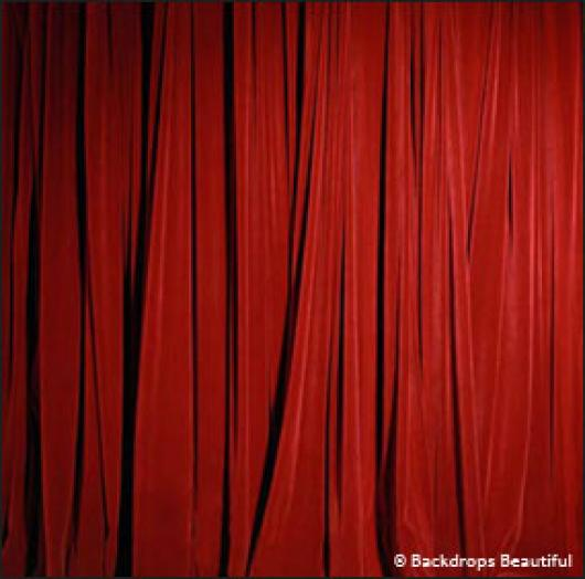 Backdrops: Drapes Red Half 1