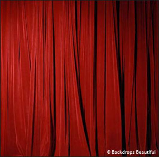 Backdrops: Drapes Red Half 2