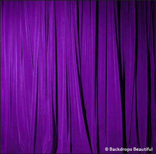 Backdrops: Drapes Purple Half 2