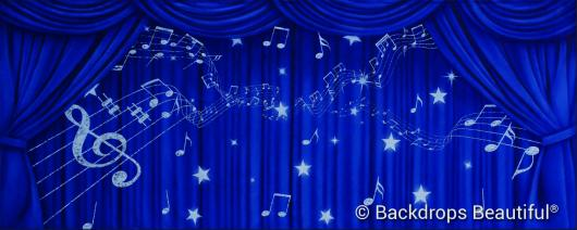 Backdrops: Drapes Blue 6 Music