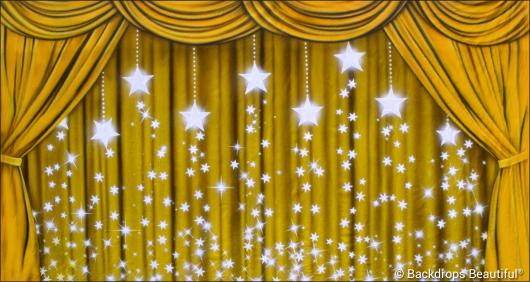 Backdrops: Drapes Gold 5 Stars