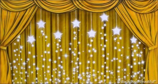 Backdrops: Drapes Gold 5 Stars