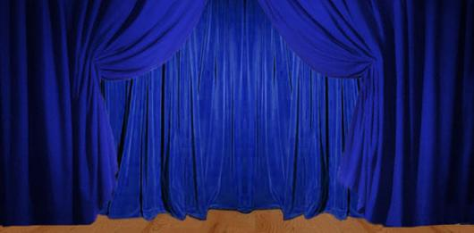 Backdrops: Drapes 1A Blue