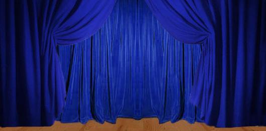 Backdrops: Drapes 1A Blue