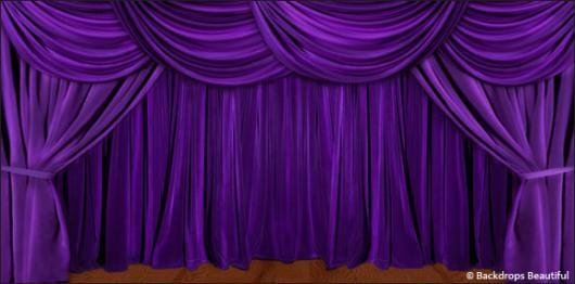 Backdrops: Drapes Purple