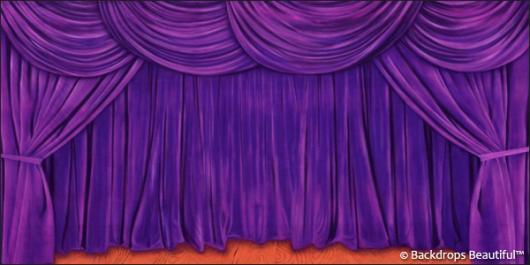 Backdrops: Drapes Purple