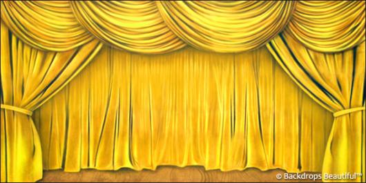 Backdrops: Drapes Gold