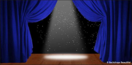 Backdrops: Stage Blue 2B