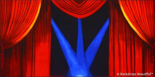 Backdrops: Stage Red 3