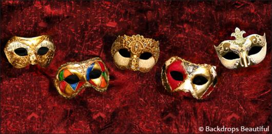 Backdrops: Masks  5 Red