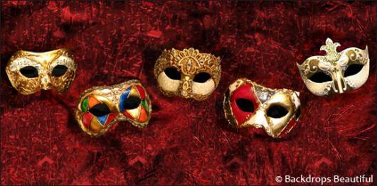 Backdrops: Masks  5 Red