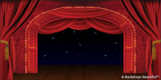 Backdrops: Stage Red 4