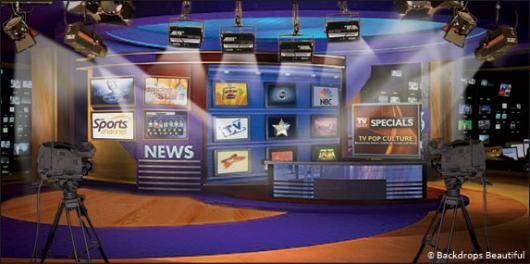 Backdrops: Newsroom 1