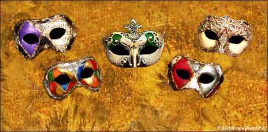 Backdrops: Masks 11 Gold