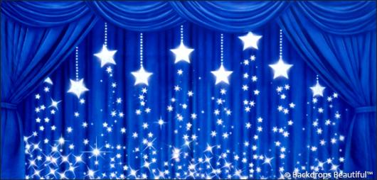 Backdrops: Drapes Blue 2 Stars
