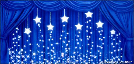 Backdrops: Drapes Blue 2 Stars