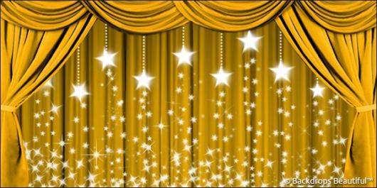 Backdrops: Drapes Gold 2 Stars