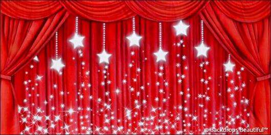 Backdrops: Drapes Red 3 Stars