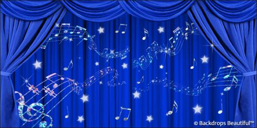 Backdrops: Drapes Blue 4 Music