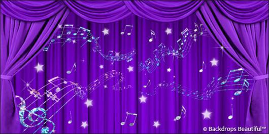 Backdrops: Drapes Purple 4 Music