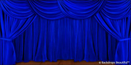 Backdrops: Drapes Blue 5