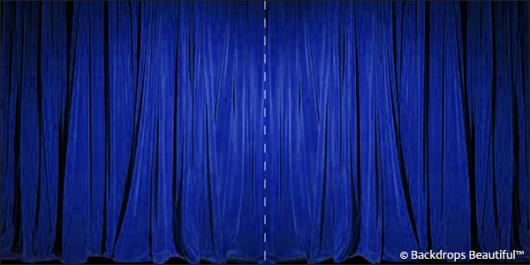 Backdrops: Drapes Blue Halves Panel