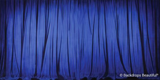 Backdrops: Drapes Blue Halves Panel