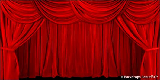 Backdrops: Drapes Red 1B