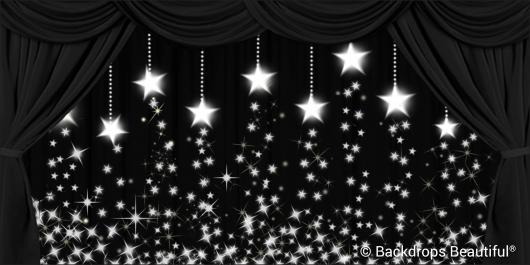 Backdrops: Drapes Black 2 Stars