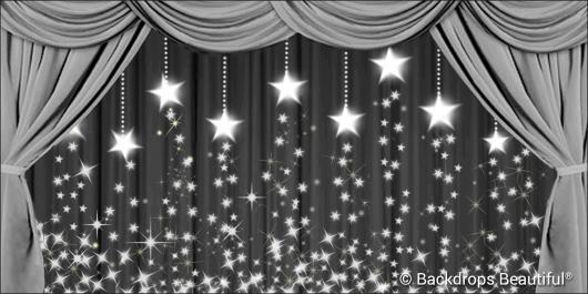 Backdrops: Drapes Silver 2 Stars