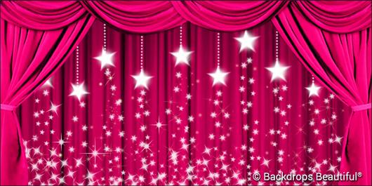 Backdrops: Drapes Pink 2 Stars