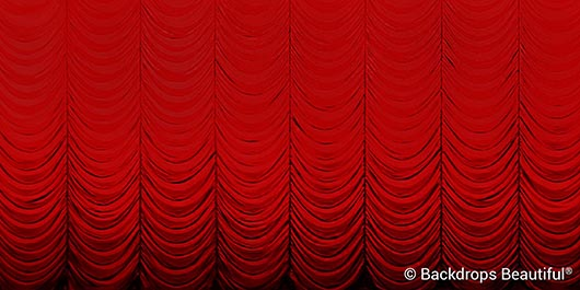Backdrops: Austrian Drapes Red 4