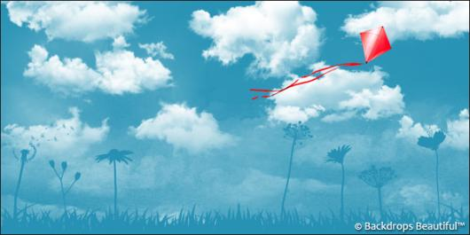 Backdrops: Clouds 7 Kite